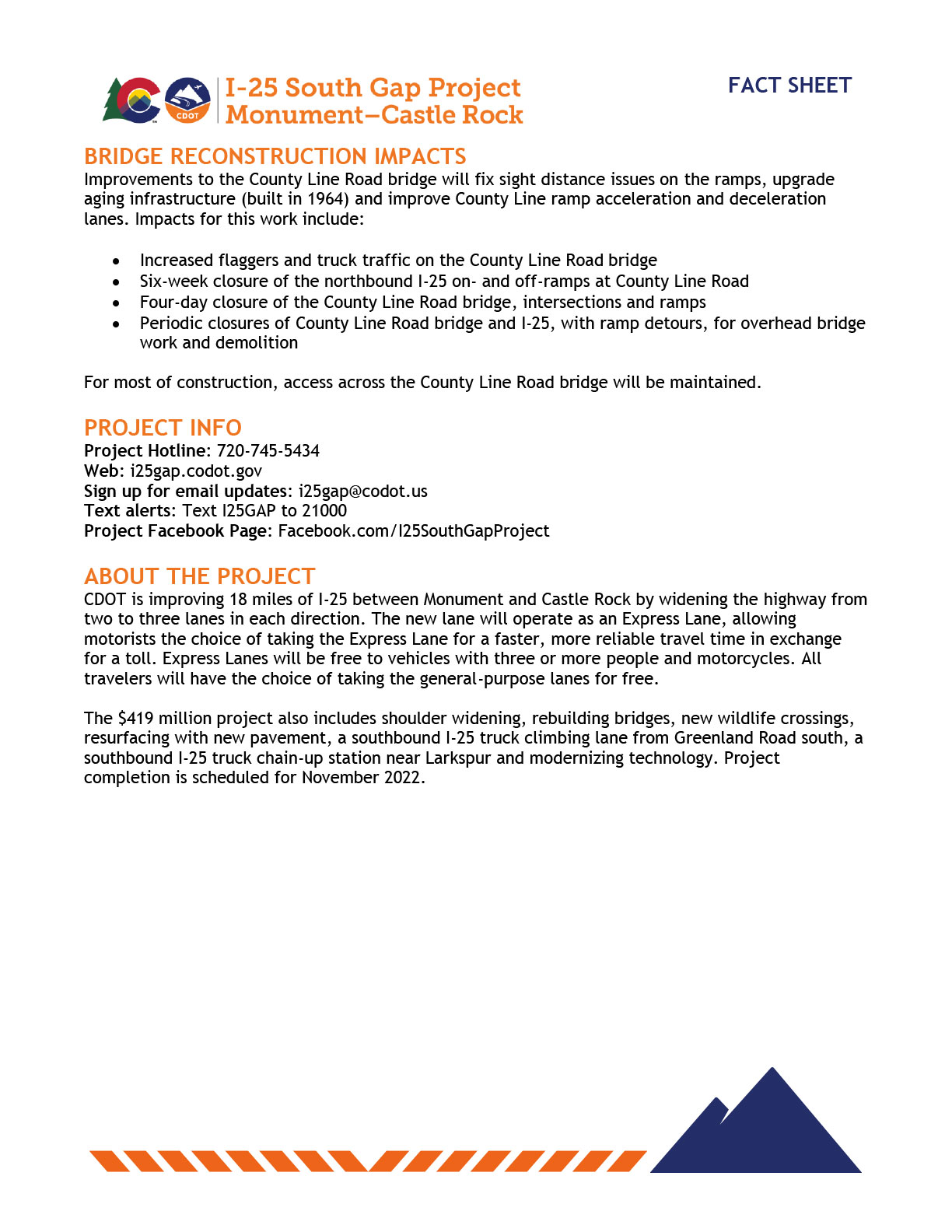 Project Fact Sheet - Page 2